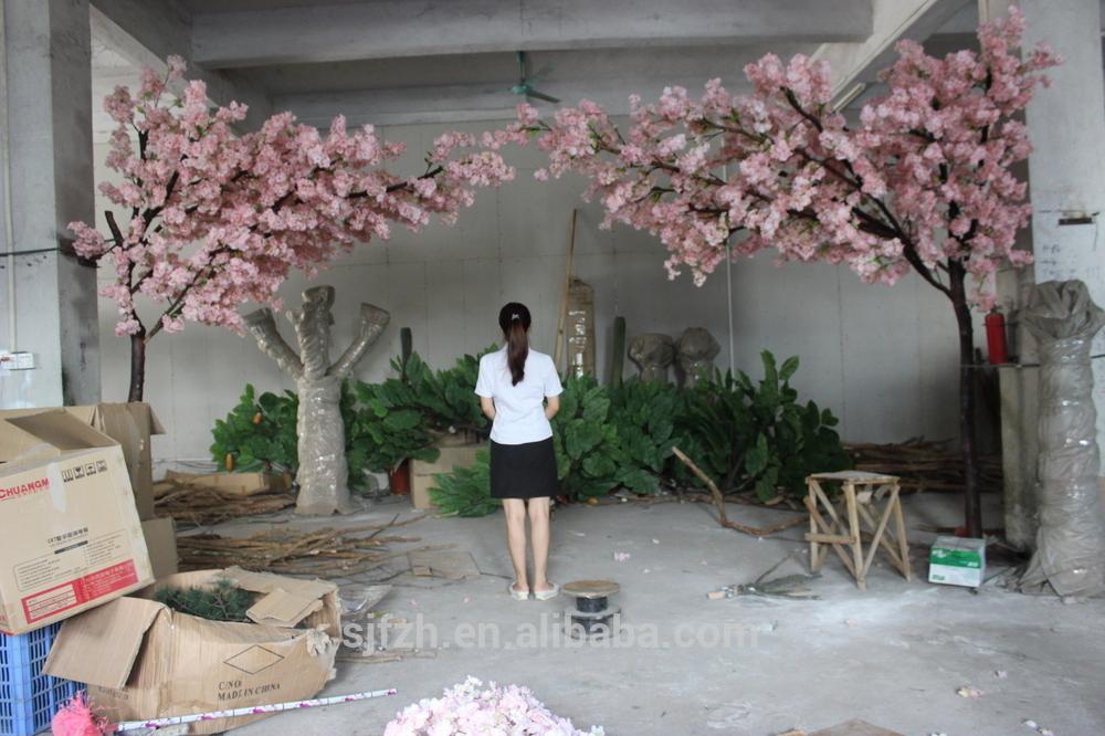 New Design Garden Wedding Arch Use Cherry Blossom Flower