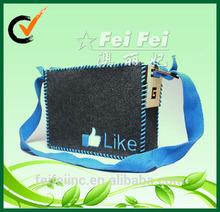 PP webbing big felt school shoulder bag for student