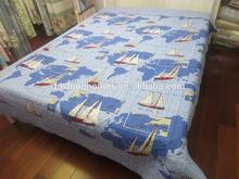 Fashion Homes Microfiber filling quilt/ocean blue bedding