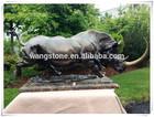 China handicraft delicate art power copper rhinoceros sculpture