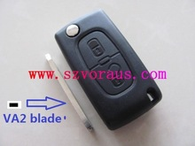 High quality Peugeot 307 2 button remote key shell no groove for Peugeot, Peugeot 307 2 button remote key shell,Auto key shell