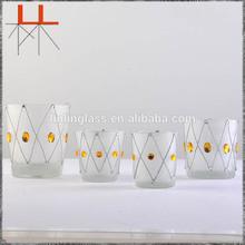 Colorful transparent cup candle vase tea cup