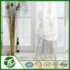 2015 European curtain design Classic tulle organza embroidery fabric curtains