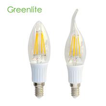 LED filament candle light 2W 200-220lm E14/E12 3000K/4000K/6500K