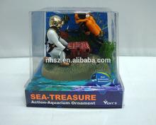 super popular sea treasure hunt toys decoration for aquarium