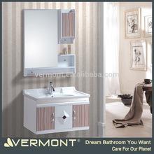 Italy single sink bathroom vanities PVC with ceramic top