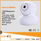 1 megapixels hd wireless mini wifi webcam kamera, remote control on smartphones