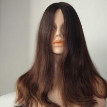 Wholesle Stock Long Human Hair Replacement System Virgin European Hair Jewish Wigs