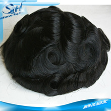 Invisible hairline fine welded mono 100% human hair toupee