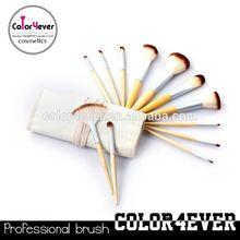 Manufacturer China Eco-friendly bamboo handle 12pcs makeup tool kit online makeup brushes
