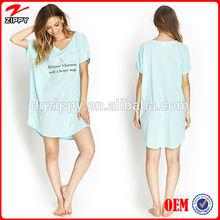 2014 Plus size short sleeves charming print sheep shirt