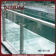 prices of modern stained glass design for outdoor balcony railing/ balustrade