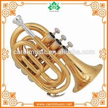 TR101 Wholesale china import cheap Bb Key Brass Pocket Trumpet sale