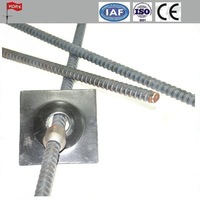 left hand dia 32 Thread Steel Bar Prestressing concrete PSB thread screw steel bars and rebar and accessories