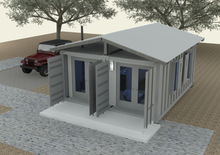 Office Container House, Includes Office Desk/Chair/Bookcase File/Cabinet and Reception Furniture