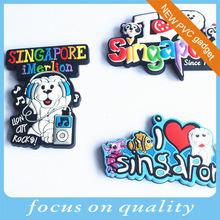 3d France tourist soft pvc souvenir fridge magnet small MOQ 1000pcs