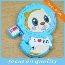 make customized convex tourist 3d souvenir fridge magnet