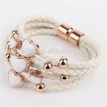 Wholesale Alibaba Express Love Alloy Slider Magnetic Clasps for Flat Leather Bracelet