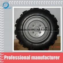 heavy duty truck solid rubber wheels deep pattern