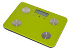 Digital glass body fat/hydration analysis monitor scale