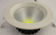 Dimmable Aluminum Recessed Down Light LED For Home 15w 1500Lm COB AC100-240V Cool White Round Shape