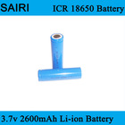 (SR-Li2600) Customized Lithium ion 2600mah 3.7v icr 18650 li-ion rechargeable 18650 battery cell