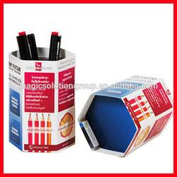New promotional gift items , Hexagon Push-up Pen Holder, Foldable Desk Calendar Pen Holder