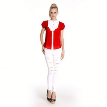 High Quality Classic Short Sleeved Formal Blouses And Skirts