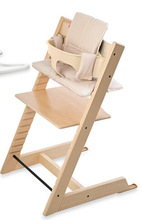 Nursery Wooden High Chairs for Toddlers/ High Chair in Natural