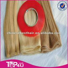 Alibaba 2014 new products wholesale remy cuticle brazilian human hair pu skin weft
