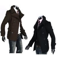 Men Winter Fashion Slim Fit Trench Coat Jacket 3299#