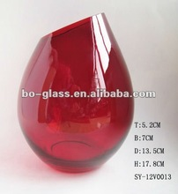Different Red Colored Types Glass Vase Wholesale