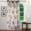 2014 hot selling modern design Luxury Printing Curtain with flower for Hotel