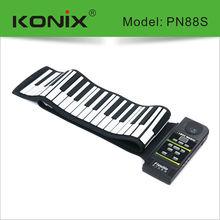 Portable Flexible Roll Up Electronic Piano 88 Keys Soft Keyboard MIDI AC Adapter