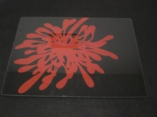 square glass plate with printing of suprior quality, 2014 good quality