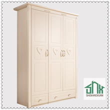 Chinese factory directly sale solid wood wardrobe HA-817A# kids wardrobe design white wardrobe for children bedroom