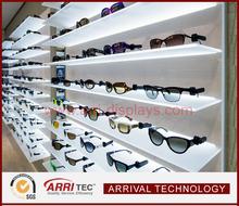 new product wall mounted acrylic LED sunglasses displays shelf