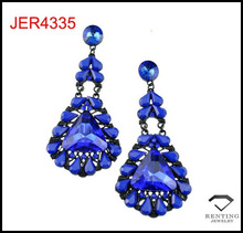 High quality fashion trend winter color big acrylic stone alloy women dangle earrings