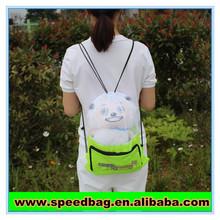 Promotional nylon mesh drawing backpack drawstring mesh bag