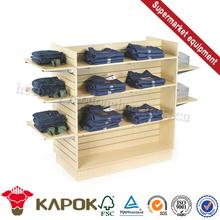 Low price single rail metal garment stand floor displays