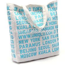 Venda quente carta eco nome da cidade saco de lona de compras china