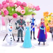 cartoon character figure doll plastic anime figure frozen toy figure