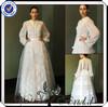TT0268 Simple long sleeve muslim bridal wedding dress xxxl size