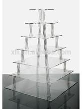 High Polished Professonal Design Cake Stand Crystal/Acrylic Cake Display Shelf/Acrylic Cake Holder