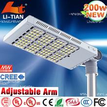 High luminous IP65 meanwell factory price 200w solar led street light