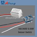 5-35w auto- controle de microondas/movimento/radar sensor interruptor com sensor de luz 185-220v
