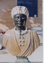 homme noir buste en marbre