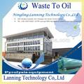 Reciclable maquinariaparaelprocesamientodeplástico- de plástico reciclado a su vez cabon de aceite negro, de acero de todo el equipo con alta rentabilidad