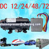 12v dc air conditioner compressor for cab a/c of truck electric-vehicle grab camping car air cooled system