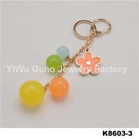 Fashion jewelry wholesale promotional gift key ring fur keychain
